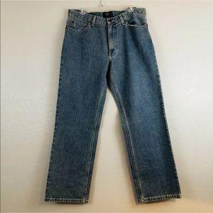 Izod Classic Fit Blue Denim Vintage Wash Jeans